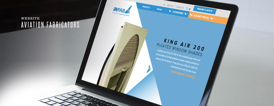 AvFab | Website Design for Aerospace Company