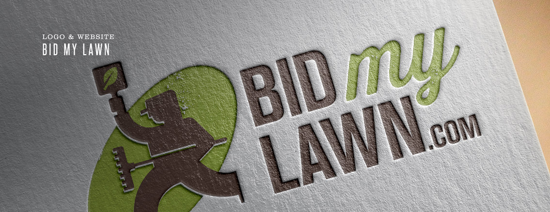 Bid My Lawn | Corporate Web and Logo for Professional Company