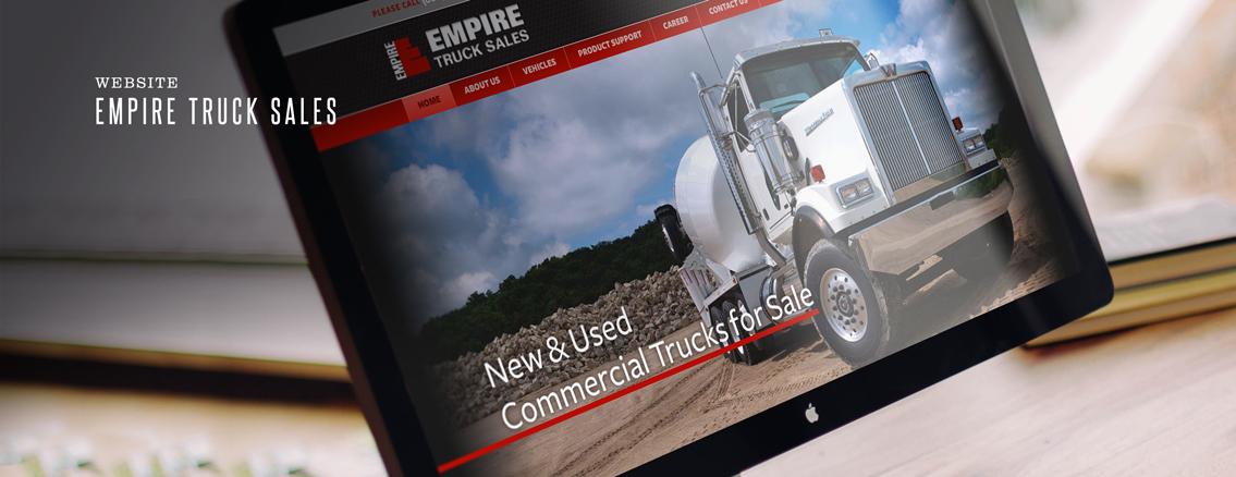Empire Truck Sales | Design Suite by Wichita Web Design Studio