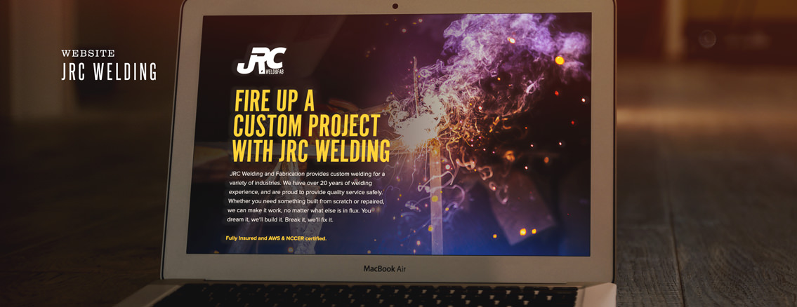 JRC Welding | Custom Website from Wichita Web Design Studio