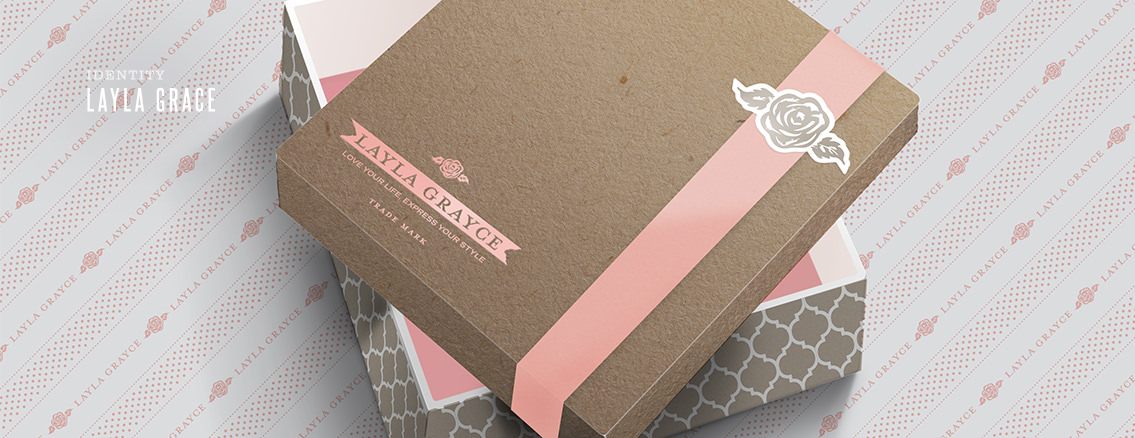 Layla Grayce | Business Card and Packing Design for Wichita Company