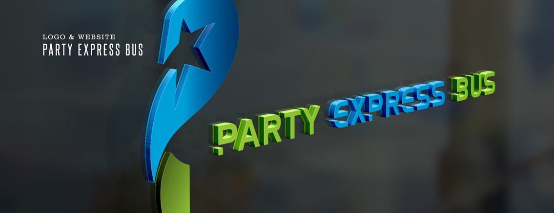 Party Express Bus | Logo Design by Wichita Web Design Studio