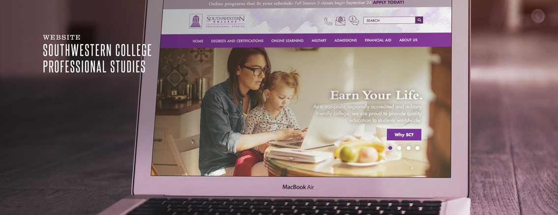 Southwestern College Professional Studies | Web Design for Educational Website by Wichita Design Studio