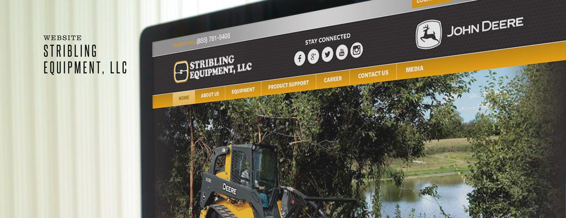 Stribling Equipment | Design Suite by Wichita Web Design Studio
