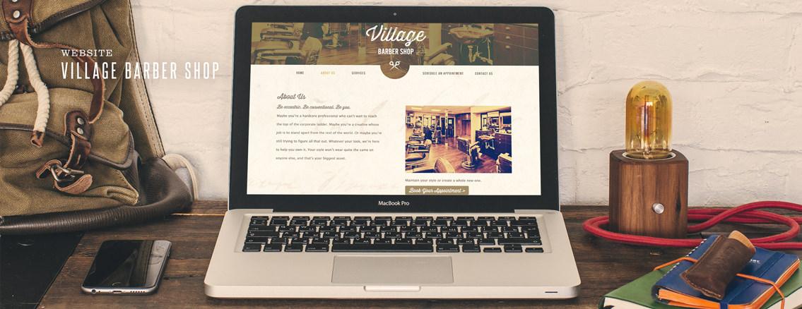 Village Barber Shop | Custom Web App for Wichita Company