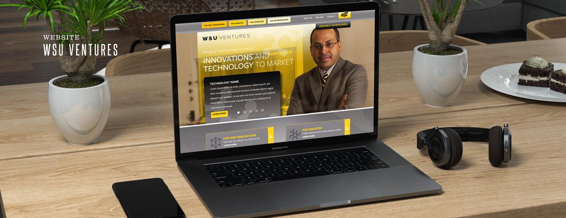 WSU Ventures | Website and Logo Design by Wichita Web Design Studio