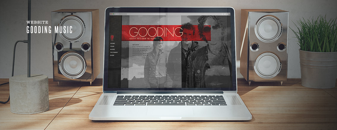 Gooding Music | Web Design for Bands - Gooding Music | Entermotion