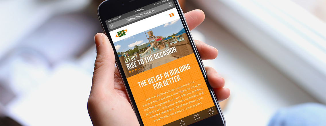 HH Construction | Responsive Website Design - Harman Huffman | Entermotion