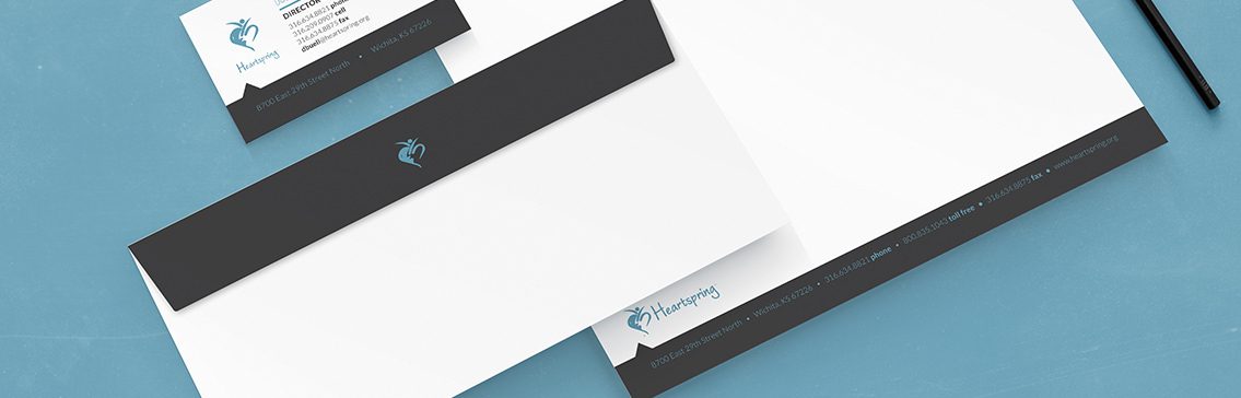 Stationery for wichita business view of heartsprings stationery design designed by entermotion a wichita web design studio colourmoves
