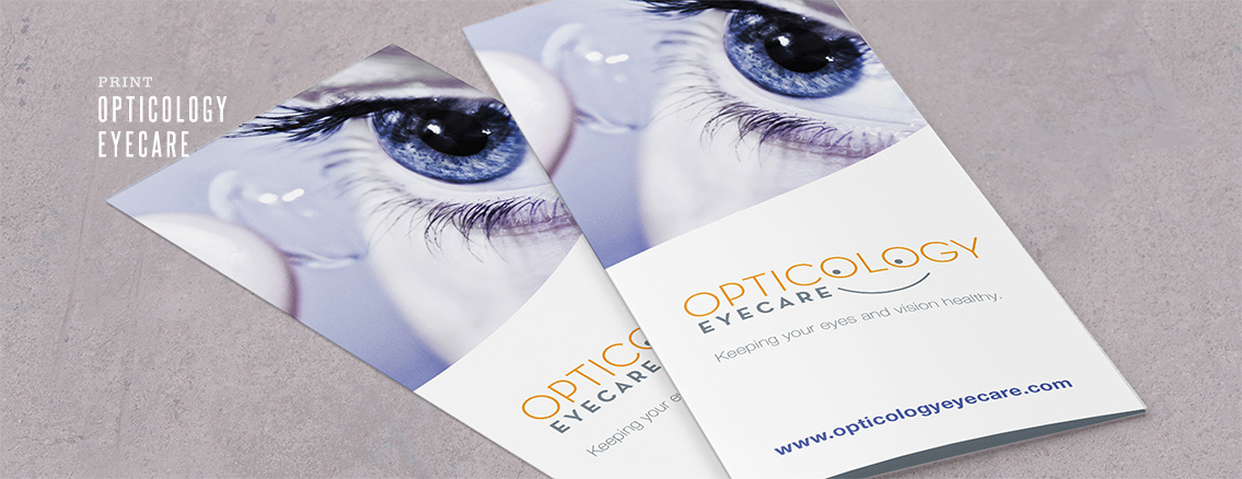 Opticology | Brochure Design for Eyecare Company